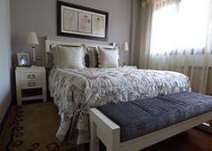 decoracion dormitorio matrimonio estilo clasico actual en blanco en Amorebieta