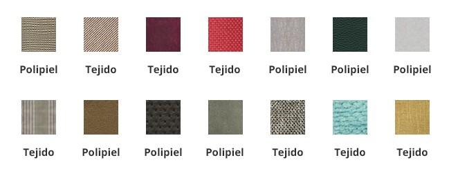 Venta de canapes con acabados en tejido y polipiel