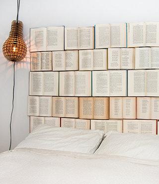 Cabeceros de matrimonio originales cabecero con libros de texto
